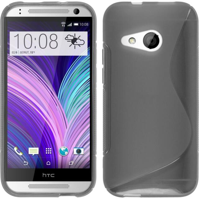 Silicone Case HTC One Mini 2 - S-Style gray + protective foils