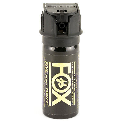 (PS Fox Labs 5.3 Tactical Police 1.5oz Flip-Top Fog Pattern Defense Pepper Spray)