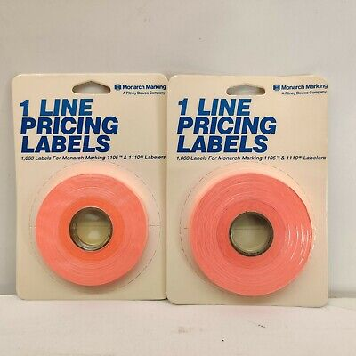 2 Monarch 1 Line Pricing Labels 925007 Fl Red 1065 Label For 1105 1110 Labelers