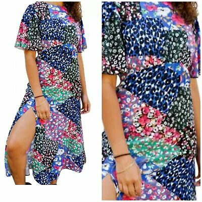 Midi dress -patch work print   john zack  size 14