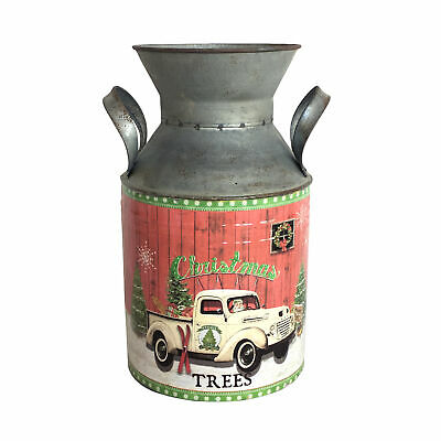 Homemade Metal Churn with Christmas Design, Suitable as Festive Decoration - Homemade Halloween Yard Decorations