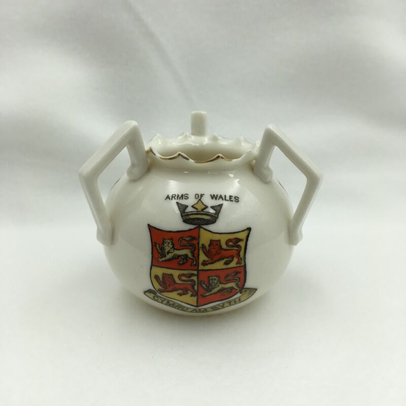 Vintage Ceramic GOSS 3 Handled Cup Loving Cup Red Dragon of Wales
