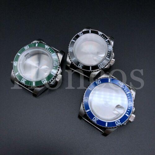 Steel Watch Case Fits ETA 2813 8215 2836 Movement Ceramic inserts Submariner USA