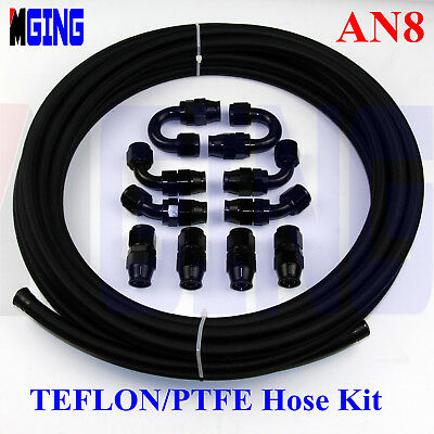 AN8 -8AN PTFE Teflon oil gas Line E85 Fuel Hose fitting adapter AN-8 32.8FT