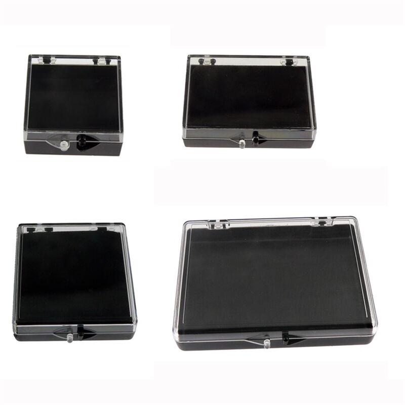 Blank Plastic Lapel Pin Presentation Display Case Hinged Arcrylic Box 4 Sizes