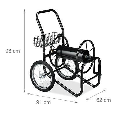 Garden Hose Cart Water Hosepipe Trolley 2 Wheels XL Mobile Reel