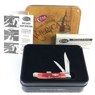 Case XX Peanut Knife RED BONE Making a Case for America 6220 SS + Tin 1463NR