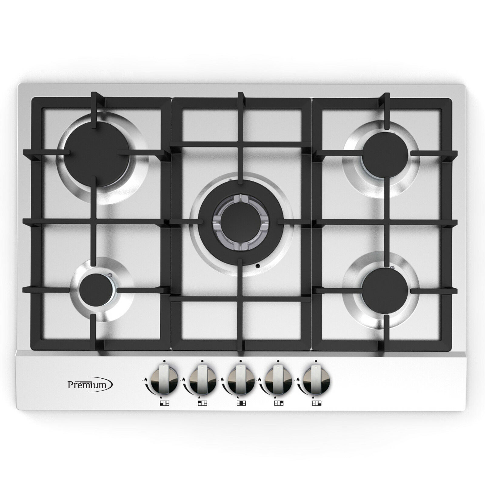 Premium 28'' Stainless Steel 5 Burners Built-in Stove Propan