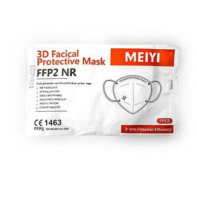 Atemschutzmaske FFP2 NR, Mundschutz, einzeln verpackt, CE 1463, 10 Stück