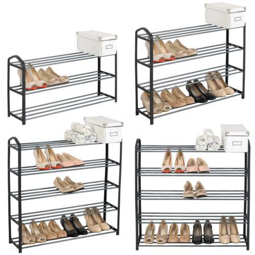 Schuhablage Schuhregal Schuhständer Schuh Ständer aus Metallrohr Schwarz #715
