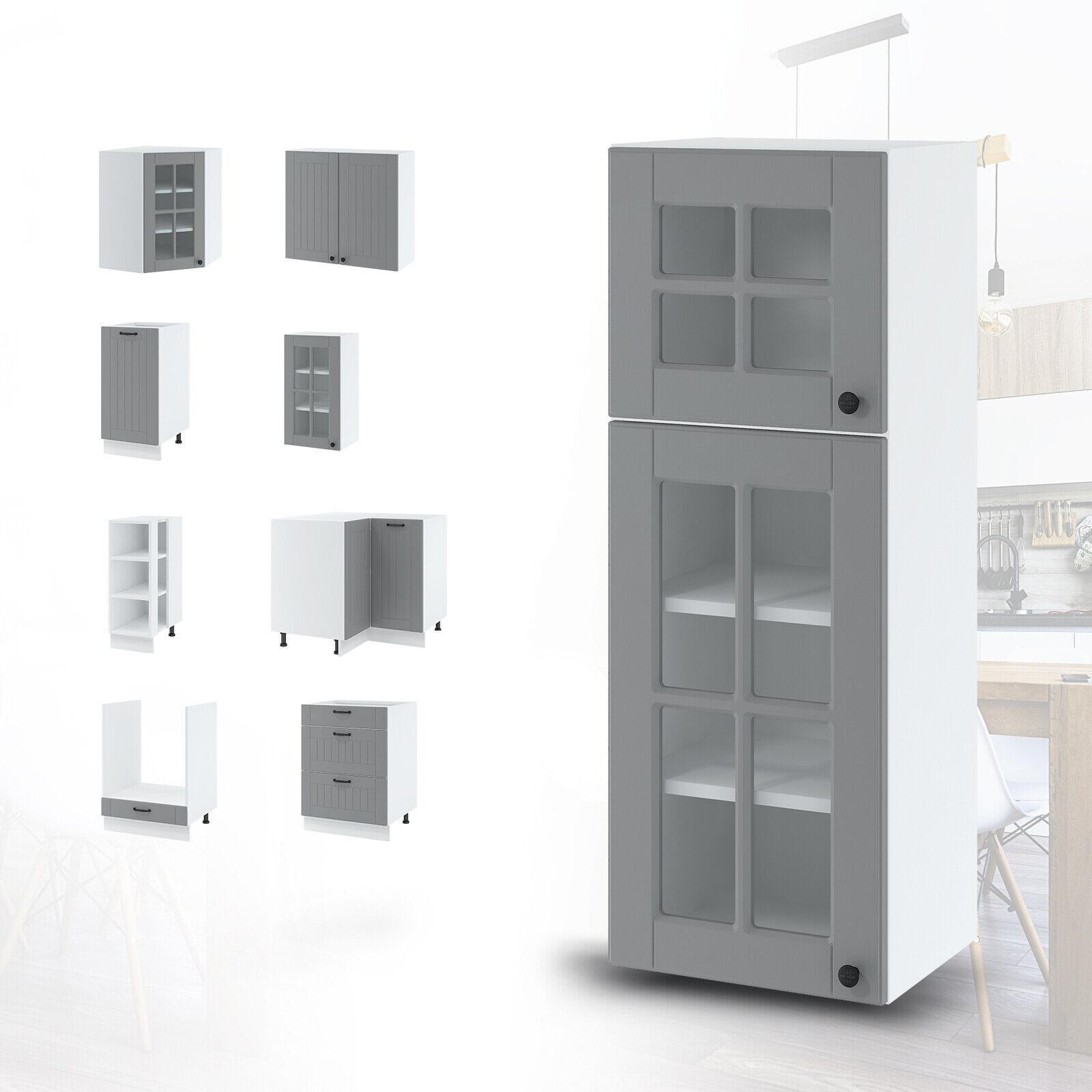 Küchenschrank Hängeschrank Unterschrank Weiß Grau Beige 72 Modelle Schränke TOP
