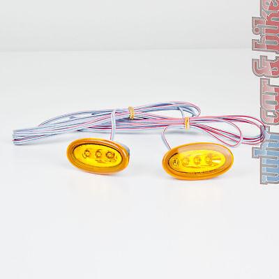 2 Stück Hella LED Seitenmarkierungsleuchten SML orange Positionsleuchten