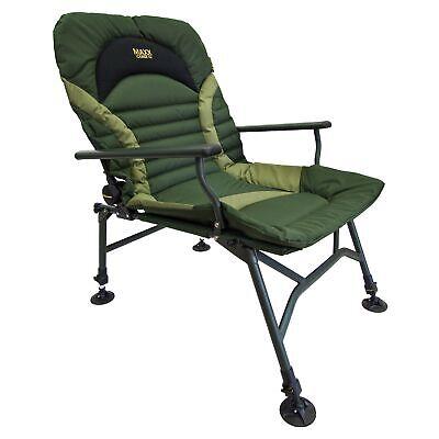 Maxxlounge V2 Carp Chair Armlehnen Karpfenstuhl Angelstuhl Campingstuhl 130KG