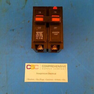Br260- Bryant 60a Amp 2p Pole 240v Br Circuit Breaker Worange Handle - Used