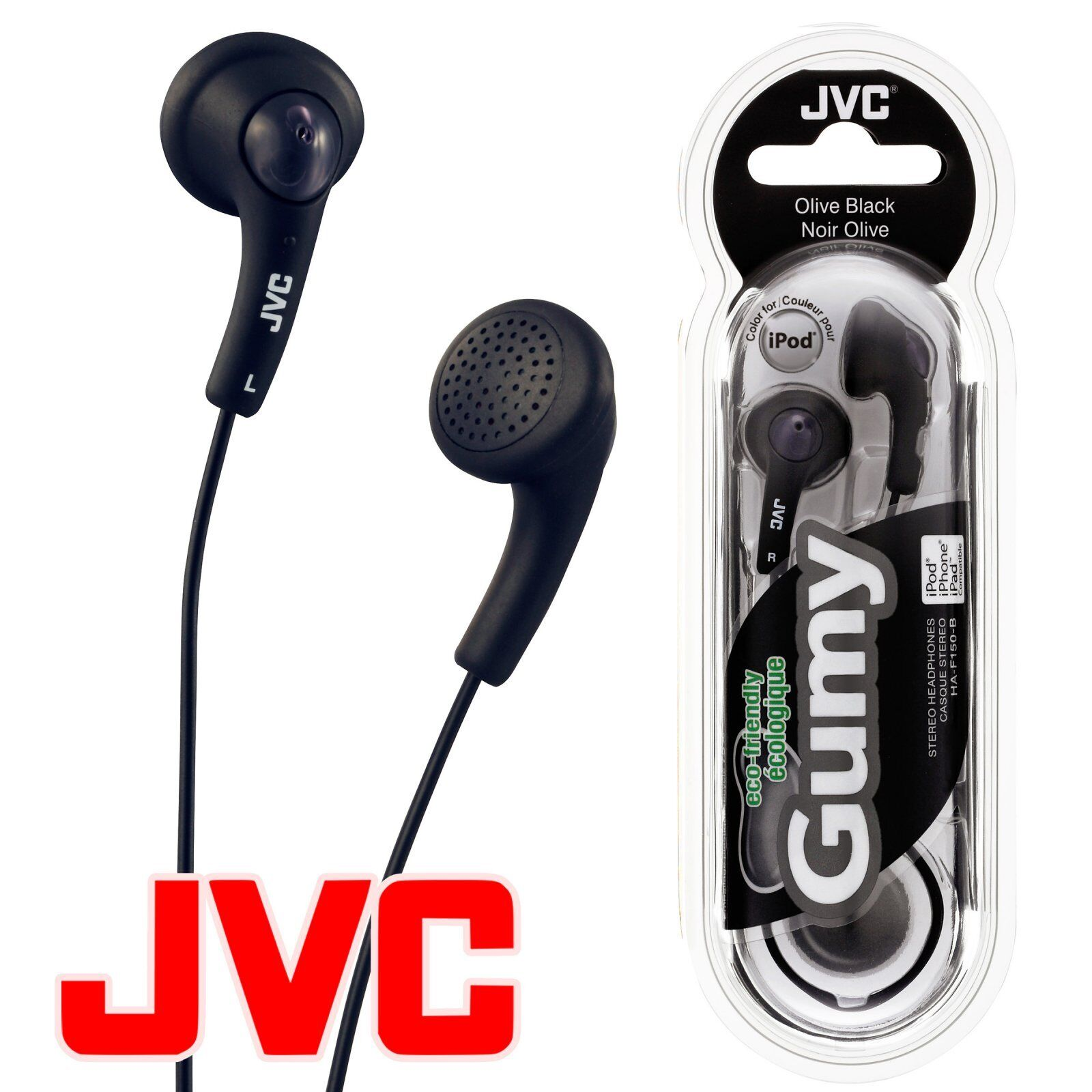 iphone 5 earbuds jvc gumy gummy ha f150 in ear canal earbuds headphones 10983