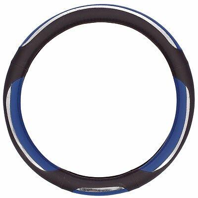 Sumex Branded Snake Soft PVC Car Steering Wheel Sleeve Cover - Blue & Black #68