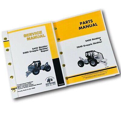 Service Manual Parts Catalog Set For John Deere 540d 548d Grapple Skidder