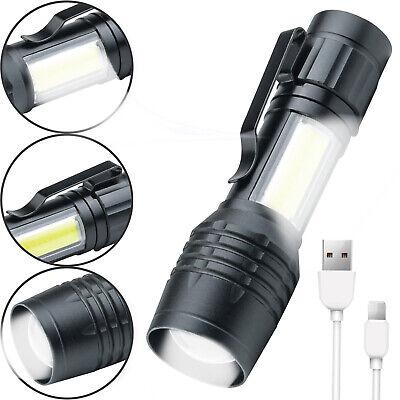 LED Taschenlampe Mini Polizei Swat Wiederaufladbarer Akku starke Leuchtkraft Top Led-taschenlampe