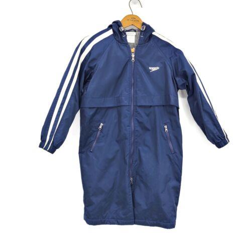 New Speedo Parka Youth Small Blue White Jacket Unisex