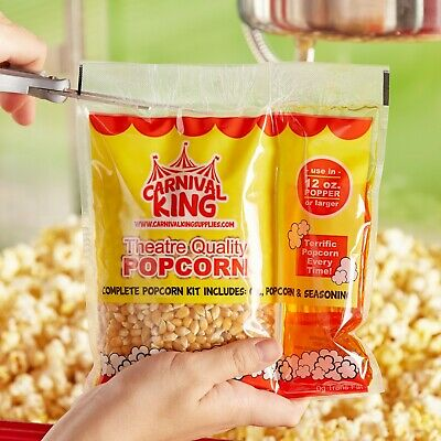 24-pack All-in-one Large Butterfly Popcorn Kit For 12 Oz. To 14 Oz. Poppers