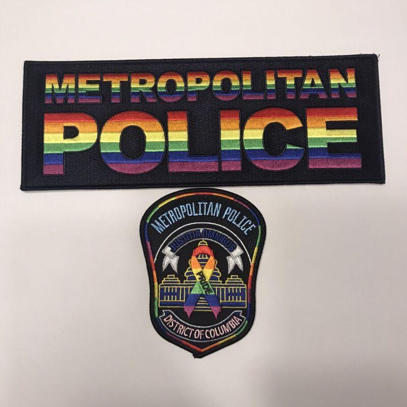 Washington DC Metropolitan Police Gay Pride Shoulder & Back Patch