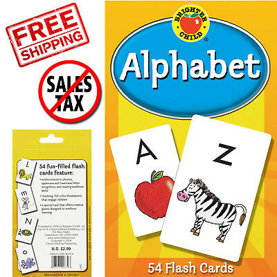 Abc Kids Alphabet Flash Cards Learning Brighter Child Flashcards Set Preschool - Alphabet Flash Cards