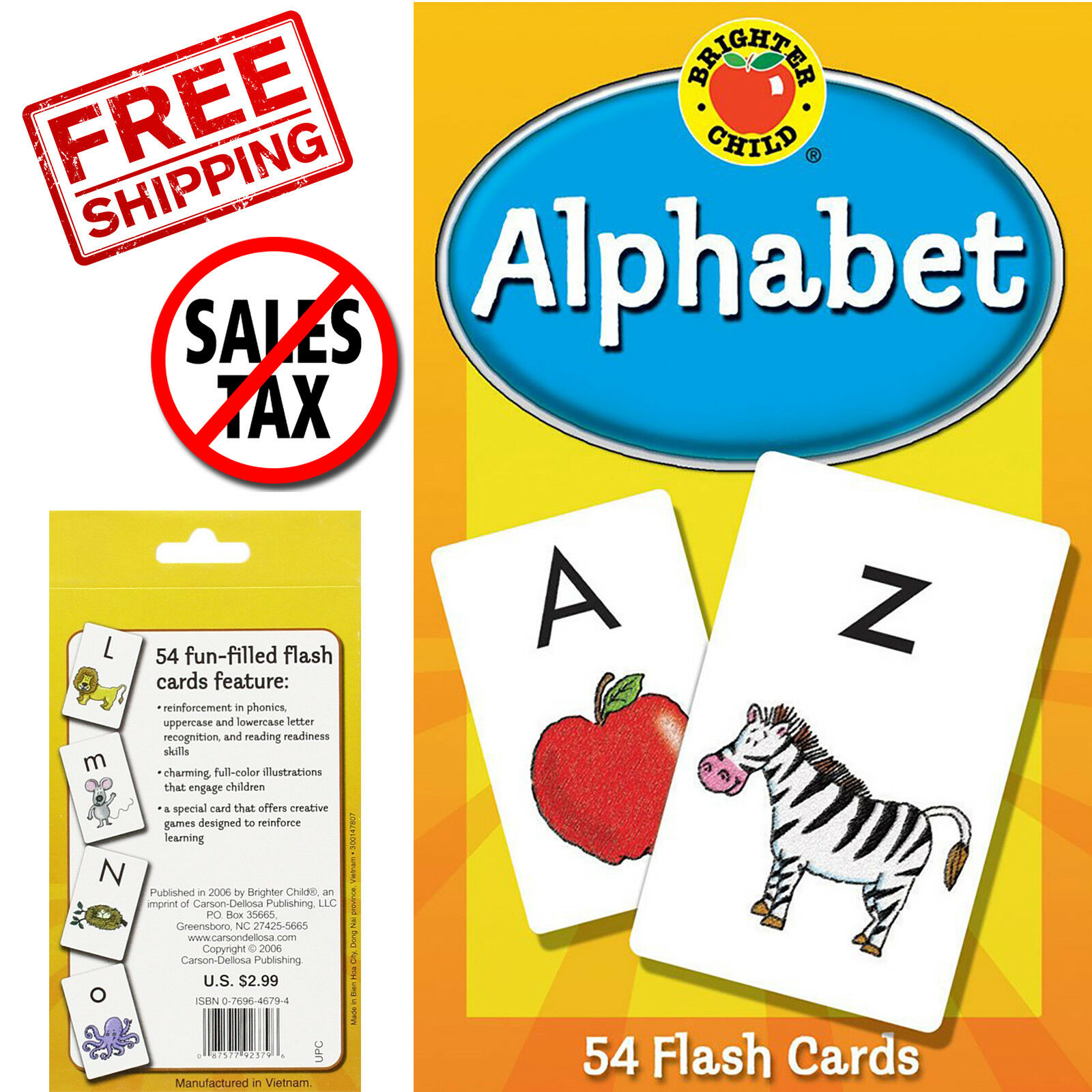 Abc Kids Alphabet Flash Cards Learning Brighter Child Flashcards