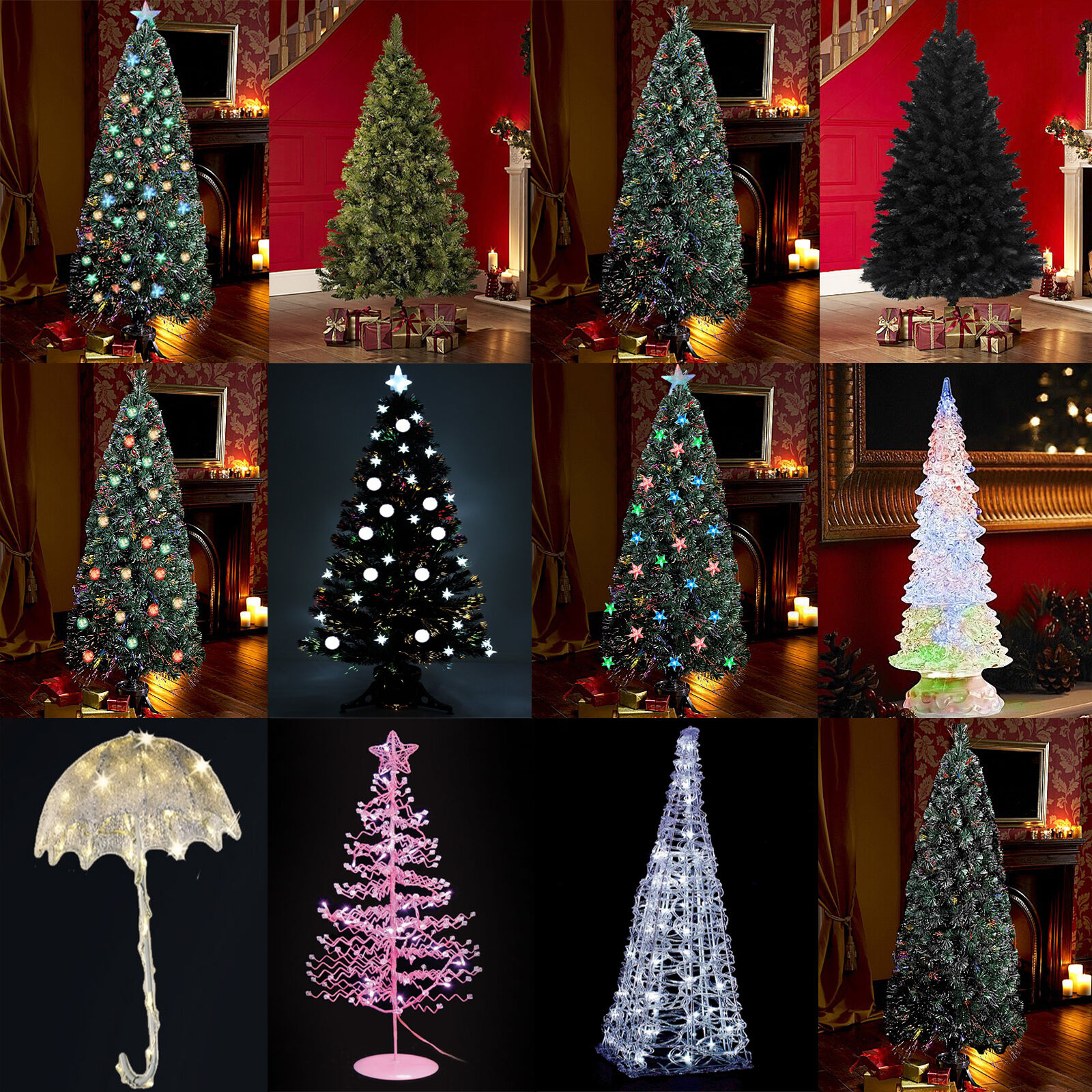 7ft Fibre Optic Christmas Tree