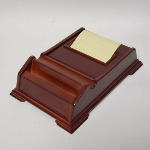 Bombay Wooden Post it Note Holder with Business Card Holder