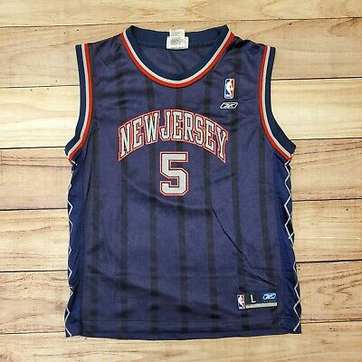 NBA - VINTAGE REEBOK NEW JERSEY NETS BASKETBALL JERSEY JASON KIDD - YOUTH BOYS L