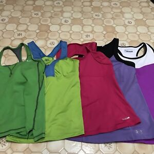 Lot of 5 misc workout tanks
