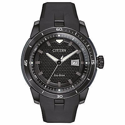 Citizen Eco-Drive Men's AW1477-15E Ecosphere Black Polyurethane Strap Watch