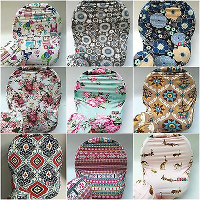 Premium Multi-Use Car Seat Canopy Nursing cover+Infant baby Beanie Carrying Case