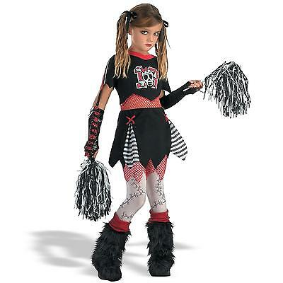 CHEERLESS CHEERLEADER CHILD HALLOWEEN COSTUME GIRL'S SIZE LARGE 10-12