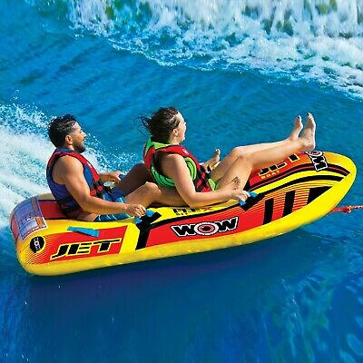 Jet Boat 2 Person tube inflatable towable lounge water-ski W