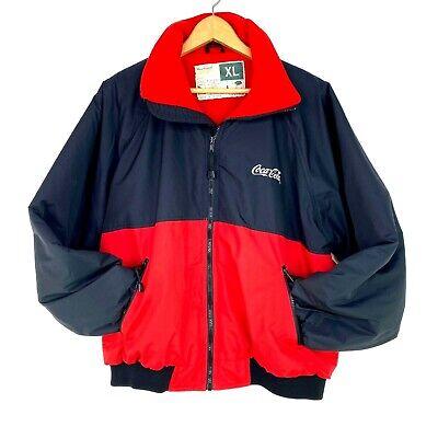 Coca Cola Vintage Red Black Zip Up WearGuard Jacket Snow Rain Resistant Mens XL