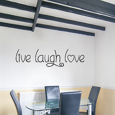 (Live Laugh Love Wall Art Quote Vinyl Decal Home Decorating Modern Wall Sticker)
