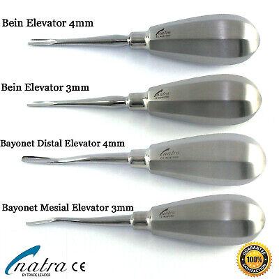 Dental Root Elevators Set 4 Pcs Bein Bayonet Oral Surgery Pdl Elevator Natra