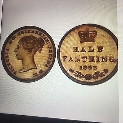 Victoria Bronze Proof Half Farthing proof 65 pcgs 1853 Probably The Best Extrare