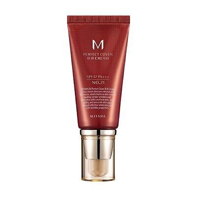 [MISSHA] M Perfect Cover BB Cream SPF42/PA+++ [No.21 - Light Beige] 50ml