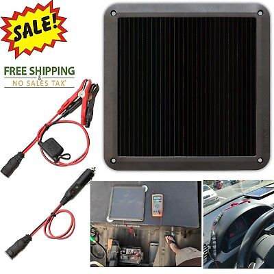 Solar Panel 12V Battery Charger Power Maintainer System Boat Marine Waterproof, used for sale  USA