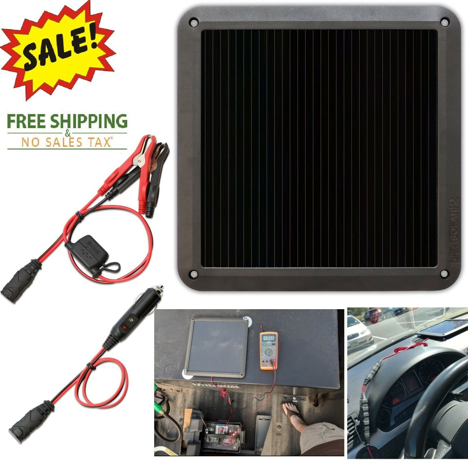 Solar Panel 12V Battery Charger Power Maintainer System Boat