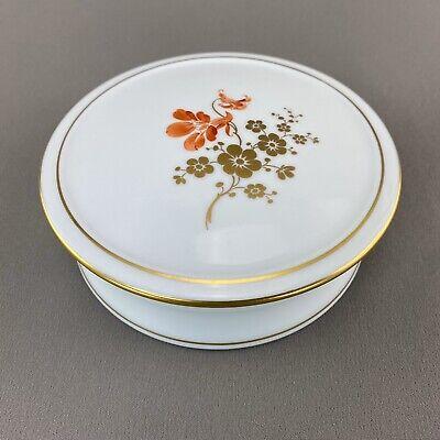 """Hochst Porcelain Gold Trim Sugar Bowl Floral Centerpiece 5"""" Wide Gold Trim Sugar Bowl"""