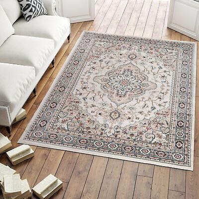 Area Rug Cream Oriental Design Traditional Carpet Living Room Small Extra Large