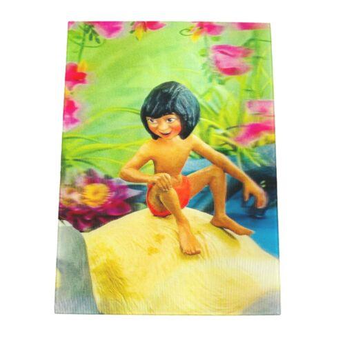 Vintage 1960s Disney Jungle Book Mowgli Cartoon Lenticular 3-D Postcard WC Jones