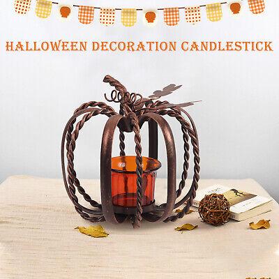 Retro Iron Ornaments Halloween Gift Pumpkin Tea Light Candle Holder Home Decor