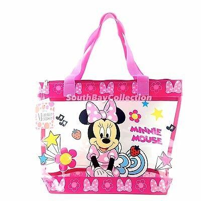 Disney Pink Minnie Mouse Kids Girls Transparent Clear PVC Beach ...