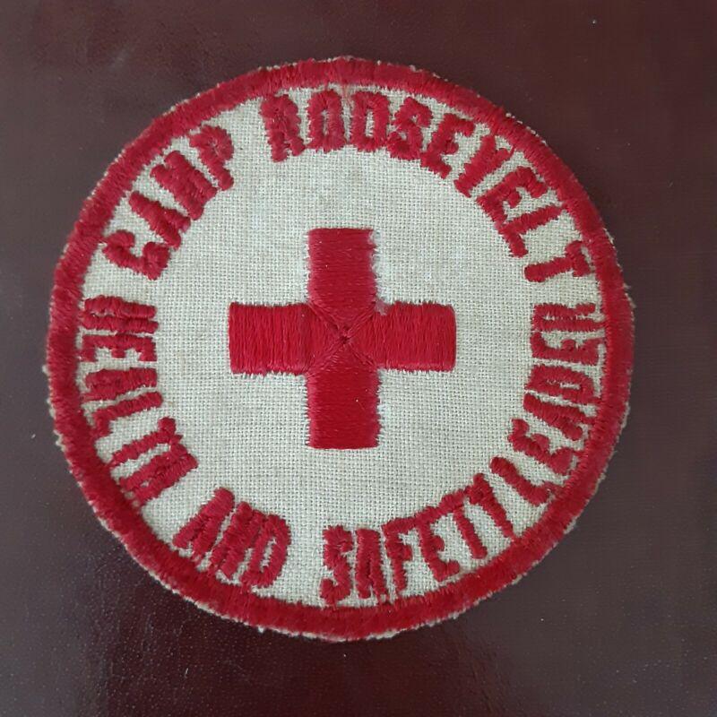 """VTG CAMP ROOSEVELT HEALTH AND SAFETY LEADER PATCH-3"""" DIAMETER"""
