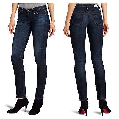 Stilt Cigarette Leg (AG Adriano Goldschmied Stilt Cigarette Leg Jeans In 5 Years Cobalt Size 24 New)