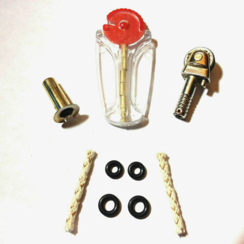 Scripto VU Lighter Repair Parts Kit - GOLD TONE Flint Wheel Assembly & More